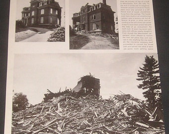 1970 Manchester, New Hampshire, Vintage Magazine Article, The Willows, Historic Mansion Demolition Photos, Lost Architecture