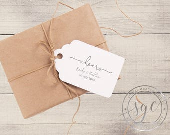 Wedding Cheers Gift Tags   Party Favor Tags   Letterpress Foil Gift Tag   Bride Groom Wedding Favors   social graces and co.
