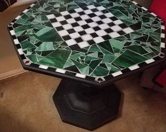 Glass Mosaic Game Table