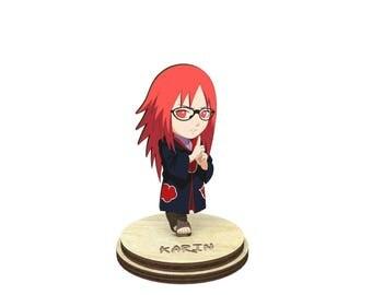 Karin   Naruto Wood Figurine on a stand