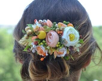 Flower hair clip Wedding hair accessories Wedding headpiece Wedding hair flower Bridal hair clip Girl hair clip Women hair clip Flower girl