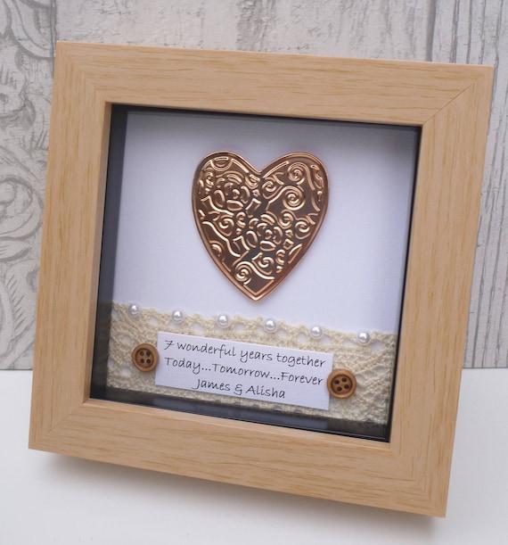 22nd Wedding Anniversary Gift Ideas: 7th Wedding Anniversary Gift, 7th Anniversary Gift,copper Anniversary Present,7 Year Anniversary
