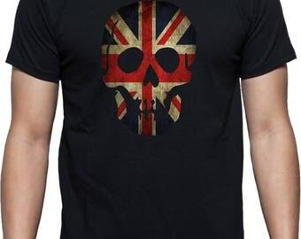Union Jack Skull T-shirt - U.K, British, United Kingdom Flag, Various Colours
