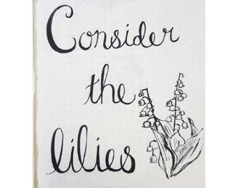 Consider The Lilies print