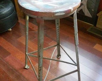vintage industrial bar stool perfect for home or office possible toledo stool
