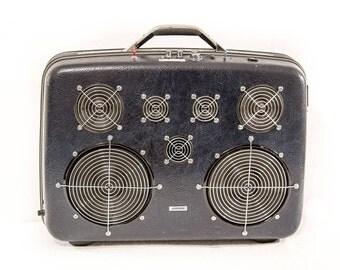 Midnight Navy - 200 Watt Bluetooth Suitcase Boombox