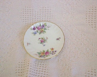 Minton Porcelain Marlow Floral Pattern Trinket Dish or Butter Sauce Dish