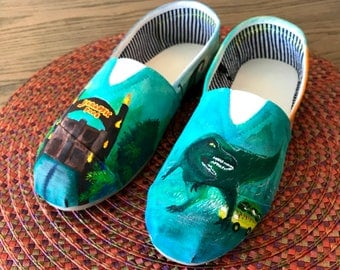 Hand-painted Shoes - Jurassic Park
