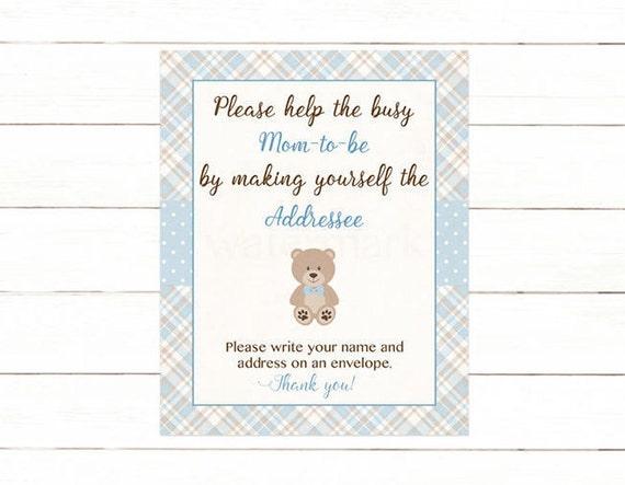 Address An Envelope Sign, Teddy Bear Address An Envelope