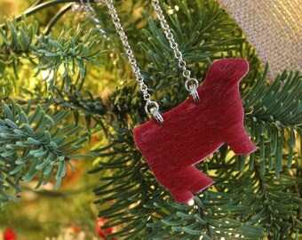 Red Hair On Hide Mini Heifer Necklace