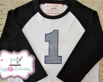 Birthday shirt, Boy's Birthday Shirt, Boy Birthday Shirt, Boy Birthday Applique, Boy Birthday Embroidery, First Birthday Shirt