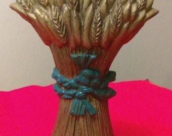 Vintage Cast Iron Doorstop Wheat Bundle
