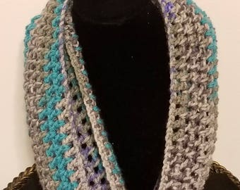 Open Weave Infinity Scarf/Crochet Scarf/Crochet Neck Warmers/Crochet Cowls and Scarves/Accessories/READY TO SHIP