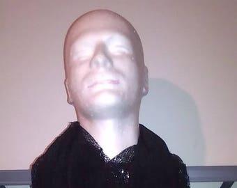 Black net Infinity scarf