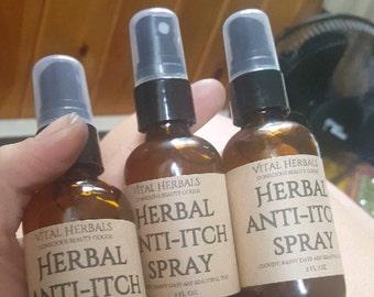 Herbal anti itch spray, bug bite relief, bug bite spray
