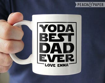 Yoda Best Dad Mug Star Wars Gift for Dad Star Wars Fathers Day Gift from Son, Star Wars Mug, Funny Fathers Day Mug Star Wars Coffee Mug