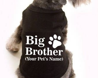 Dog baby announcement, new baby announcement, big brother announcement shirt, dog big brother announcement, pet baby announcement,