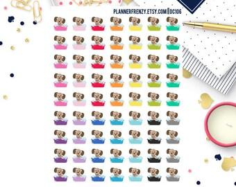 63 Dog Bath Planner Stickers! DC106