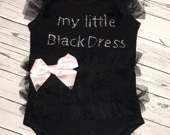 Little Black Dress, Little Black Dress Onesie, Little Black Dress Baby Onesie, Baby Little Black Dress, Tutu, Black Dress, Black Dress Tutu