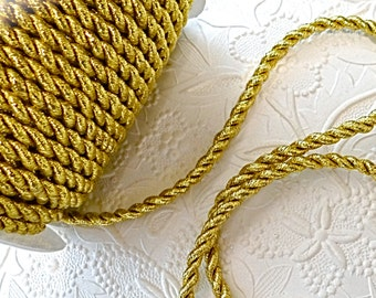 Gold Mettalic Cording Sewing Supplies Craft Supplies T-100