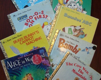 "Multiple Choice - Little Golden Books - You Pick or Buy 4 and Get 1 FREE - Lots to Choose From, Multipe Listings - Click ""More""  for Details"