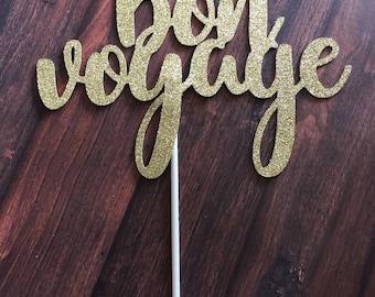 Bon voyage cake topper, Bon voyage party decorations, bon voyage, fairwell party decor, moving cake topper