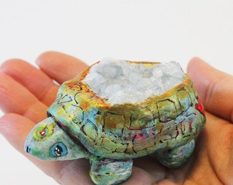 Angelic Celestite Turtle Totem!!! Angel Connection, Soothing, Peaceful, Handmade, Magical, Animal Figurine