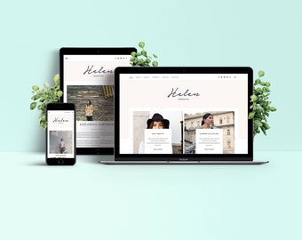 Helen WordPress Theme - Responsive & Feminine Template