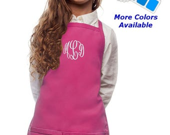 Monogrammed Kids Apron Embroidered with Your Initials