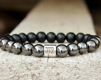 beaded bracelet virgo Birthstone jewelry Zodiac gift Zodiac jewelry virgo jewelry virgo bracelet Horoscope jewelry virgo star sign