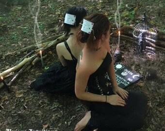 Ouija Board Hair Slide, Ouija Planchette Hair Barrette, Gothic Ouija Planchette Hair Stick, Spirit Board  Stick Barrette, Free Shipping