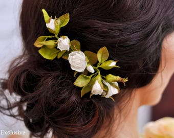 Flower hair clip Wedding hair comb Flower hair accessories Bridal headpiece Hair flowers Flower hair pin Flower headpiece Flower hair piece