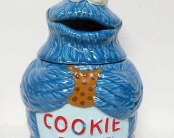 Sesame Street Cookie Monster Chef Ceramic Cookie Jar Demand Marketing Muppets