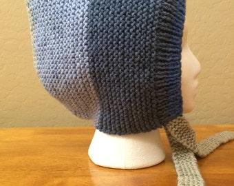 Hand Knitted Pixie Hat, Pixie Bonnet, Elf Hood, Gnome Hat, Child/Adult Knitted Pixie Hat