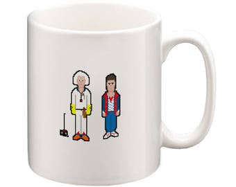 Back to the Future: Marty McFly & Doc Brown Pixel Art Cup, BTTF,