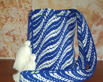 Modern Mochila Bag handmade Boho Bags Hippie Cross body Bucket Bag Shoulder Handbag Purse large bucket, indigenous