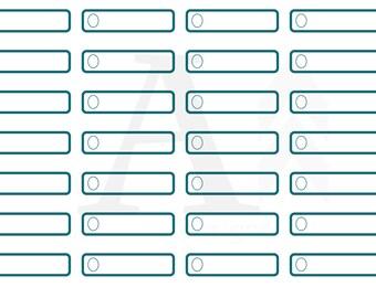 1/4 box (quarter box) plain planner stickers - dark turquoise
