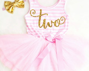 2nd Birthday Outfit Girl Second Birthday Outfit 2nd Birthday Dress Two Year Old Birthday Clothing Second Birthday Dress First Birthday Dress