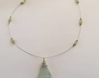 Sea Breeze floating Necklace