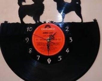 Chihuahua Dog Vinyl Record Clock