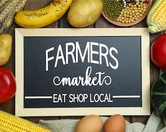 Farmers Market Sign SVG