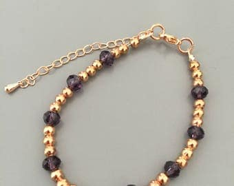 Amici. Rose gold and amethyst bracelet