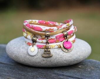 Bracelet liberty meadow double _ Indian Buddha Sun