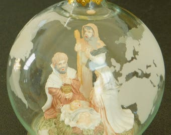 Vintage Nativity, Christmas Glass Ornament, House of Lloyd, Christmas Around the World Nativity, Religious Holiday Ornament, Tree Decoration