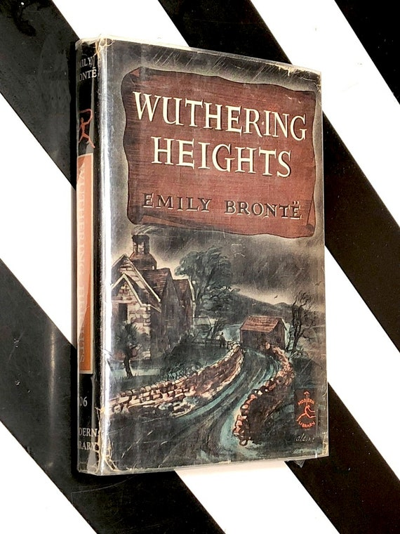 Wuthering Heights by Emily Bronte (1950) Modern Library hardcover book