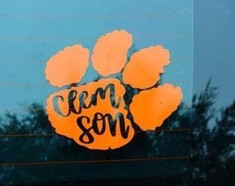 Clemson Paw Sticker Clemson Decal Clemson Sticker Clemson University Sticker Clemson Alumni Clemson Car Decal
