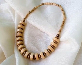 Chunky Wood Necklace, Wood Bead Necklace, Wooden Necklace, Necklace Wood