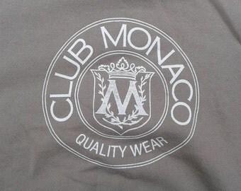 Vintage 90's Club Monaco Big Circle Logo Crewneck Sweatshirt light brownish grey