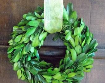 "Preserved Boxwood Wreath-5""-Mini Wreath-Small Boxwood Wreath-Mini Boxwood Wreath-Chair Back Wreath-Door Hanger Wreath-Year Round Wreath"