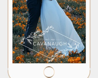 Modern Filter Minimal Filter Modern Snapchat Elegant Geofilter Leaves Geofilter Boho Wedding Filter Simple Geofilter Snapchat Filter Wedding